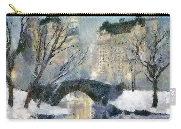 Gapstow Bridge In Snow Carry-all Pouch