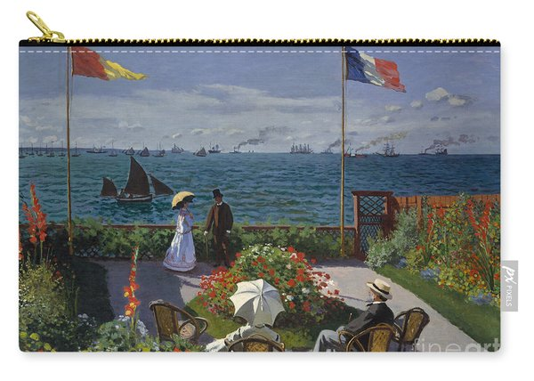 Garden At Sainte Adresse, 1867 Carry-all Pouch