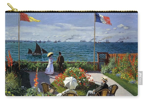 Garden At Sainte Adresse By Claude Monet Carry-all Pouch