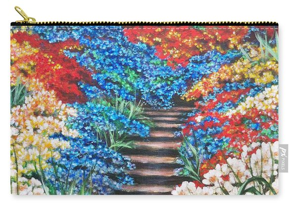 Red White And Blue Garden Cascade.               Flying Lamb Productions  Carry-all Pouch