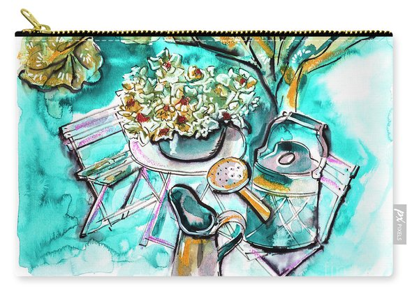 Garden Life Illustration Carry-all Pouch
