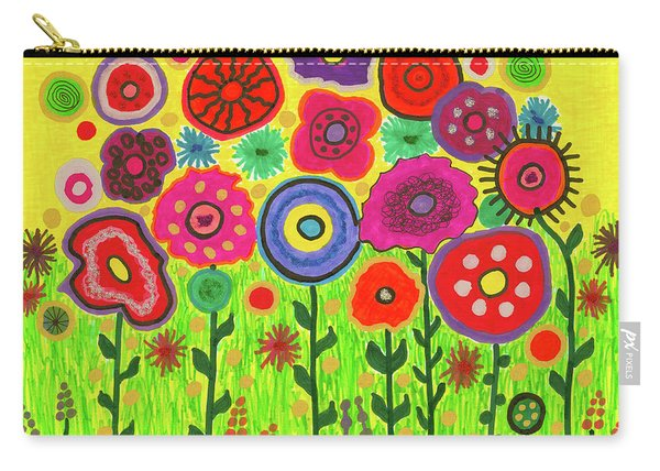 Garden Of Blooming Brilliance Carry-all Pouch