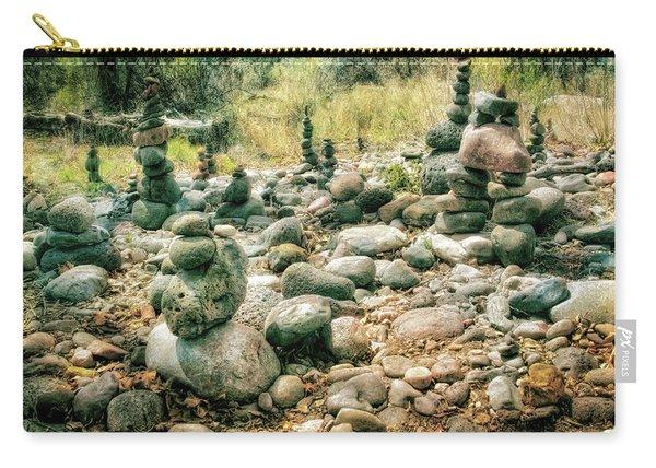 Garden Of Rock Cairns At Buddha Beach - Sedona Carry-all Pouch