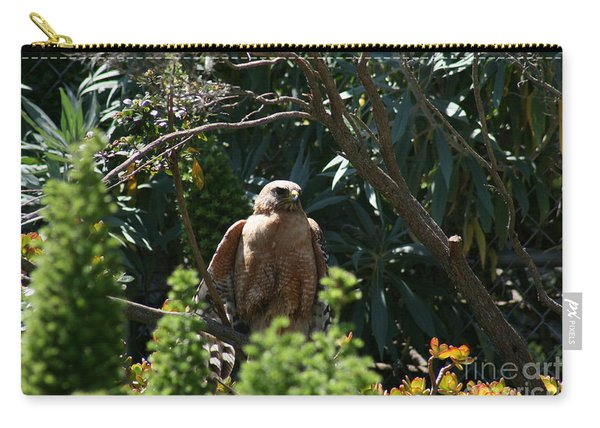 Carry-all Pouch featuring the photograph Garden Rest by Cynthia Marcopulos