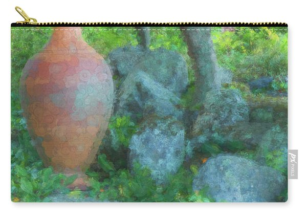 Carry-all Pouch featuring the photograph Garden Urn by Tom Singleton