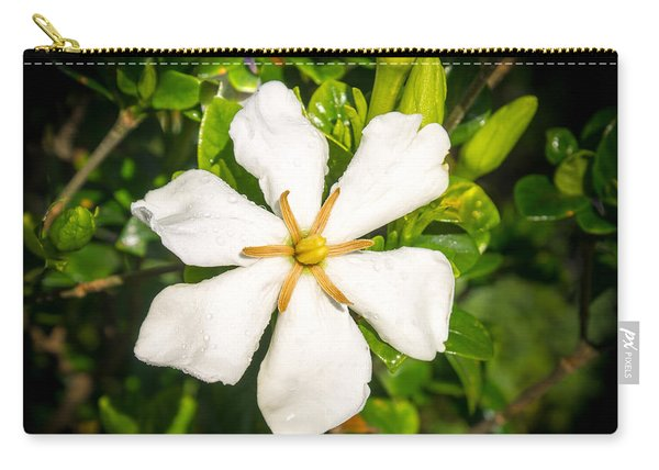 Gardenia In The Morning Sun Carry-all Pouch