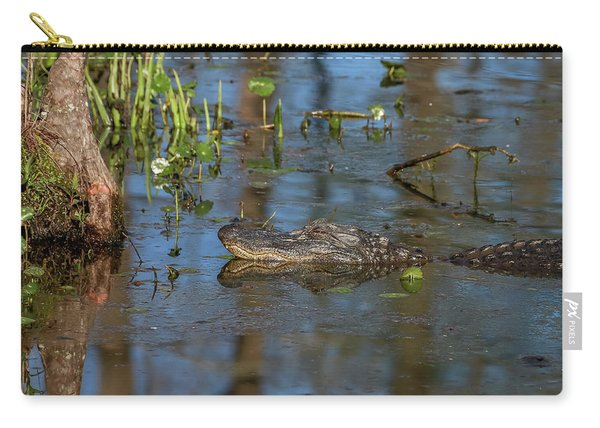 Gator In Cypress Lake 3 Carry-all Pouch