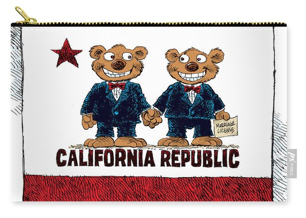 Gay Marriage In California Carry-all Pouch