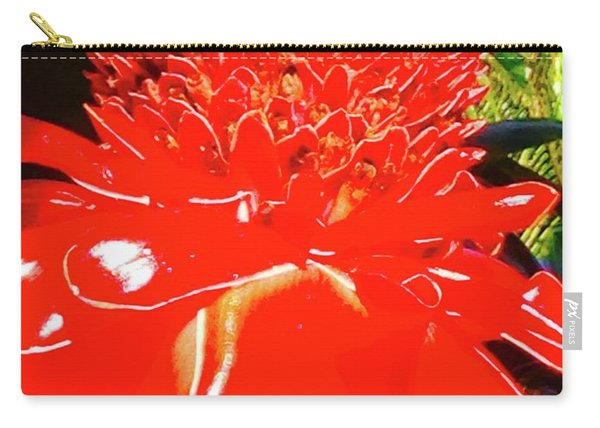 Gecko On Torch Ginger Carry-all Pouch