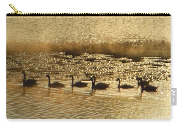 Geese On Golden Pond Carry-all Pouch