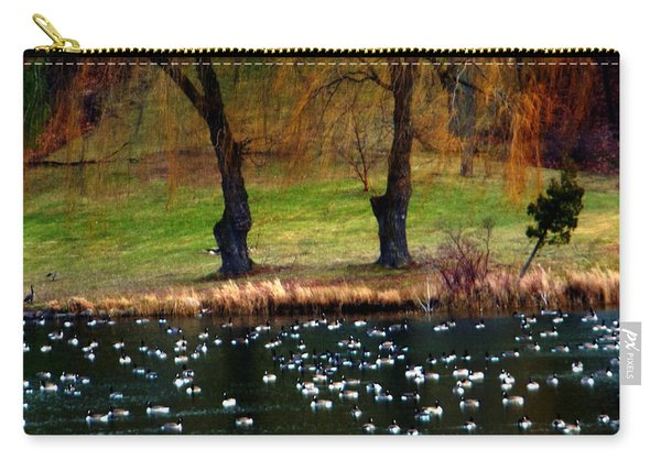 Geese Weeping Willows Carry-all Pouch