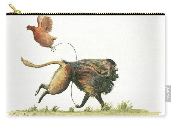 Gelada Monkey Carry-all Pouch