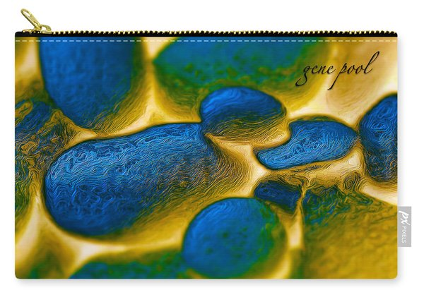 Carry-all Pouch featuring the digital art Gene Pool Blue by ISAW Company
