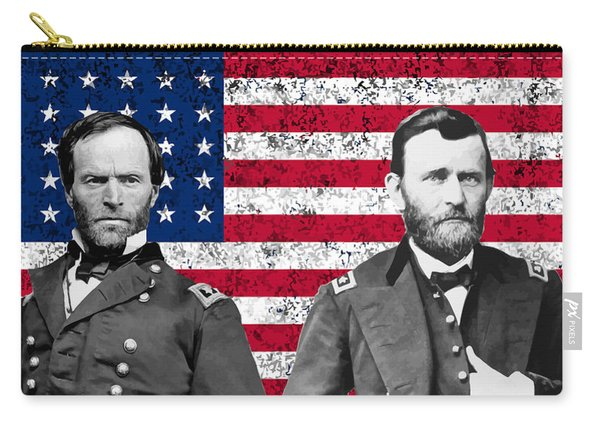 Generals Sherman And Grant  Carry-all Pouch