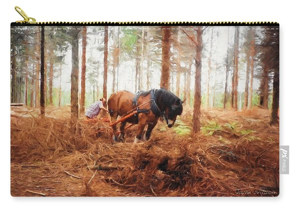 Gentle Giant - Horse At Work In Forest Carry-all Pouch
