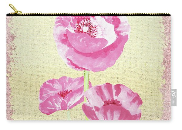 Gentle Pink Floral Decor Carry-all Pouch