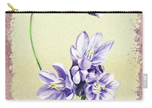 Gentle Purple Floral Decor Carry-all Pouch