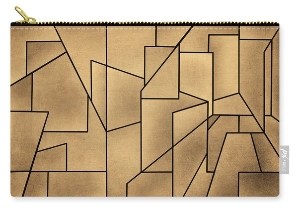 Geometric Abstraction IIi Toned Carry-all Pouch