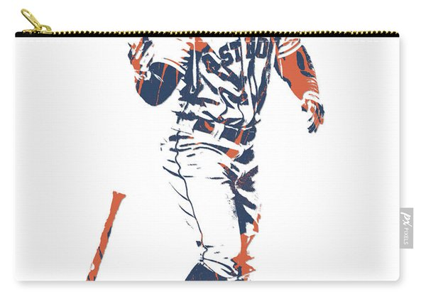 George Springer Houston Astros Pixel Art 12 Carry-all Pouch