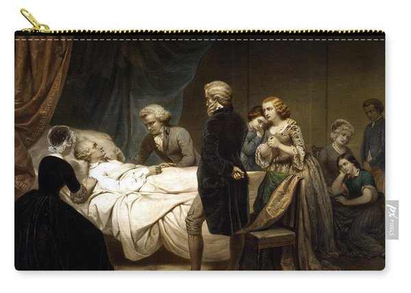 George Washington On His Deathbed Carry-all Pouch