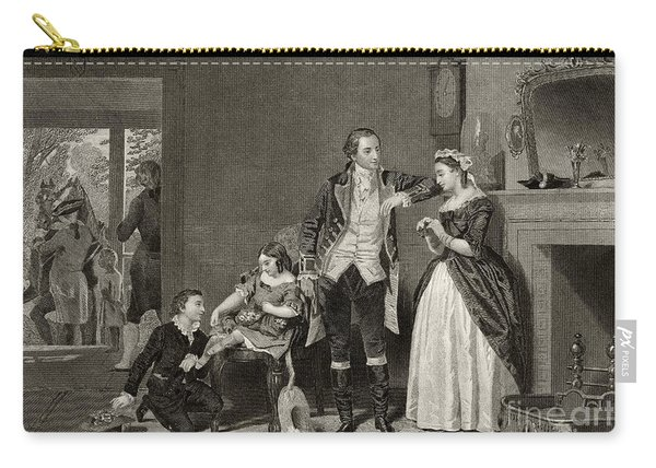 George Washington's First Interview With Mrs Martha Custis Carry-all Pouch