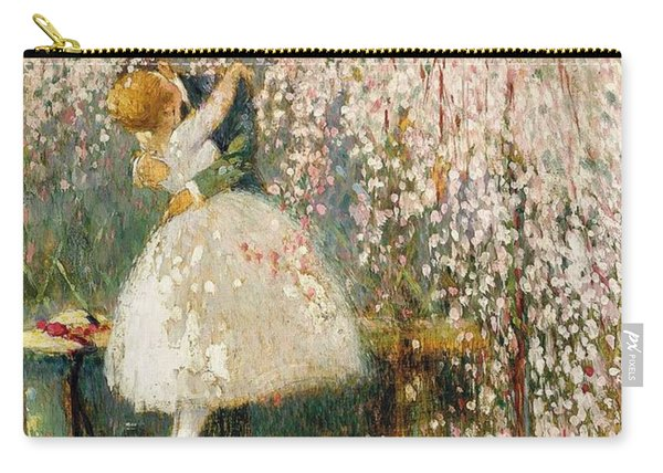 Georges Picard French 1857 1946 Romance Under The Blossom Tree Carry-all Pouch