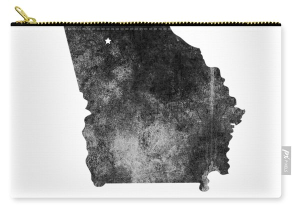 Georgia State Map Art - Grunge Silhouette Carry-all Pouch