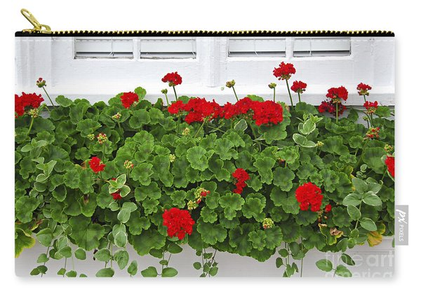 Geraniums On Window Carry-all Pouch