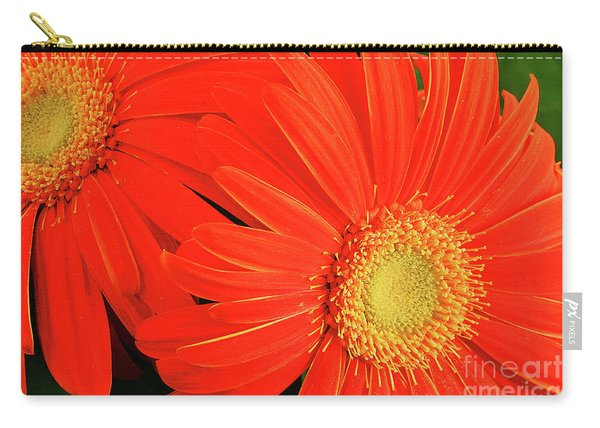 Gerbera Daisies In Orange Carry-all Pouch