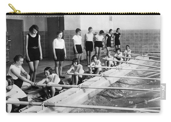 German Girls Learn Rowing Carry-all Pouch