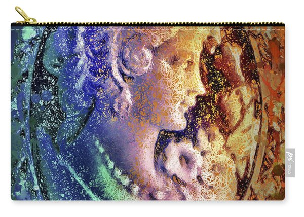 Carry-all Pouch featuring the mixed media Gertrude's Cameo by Al Matra