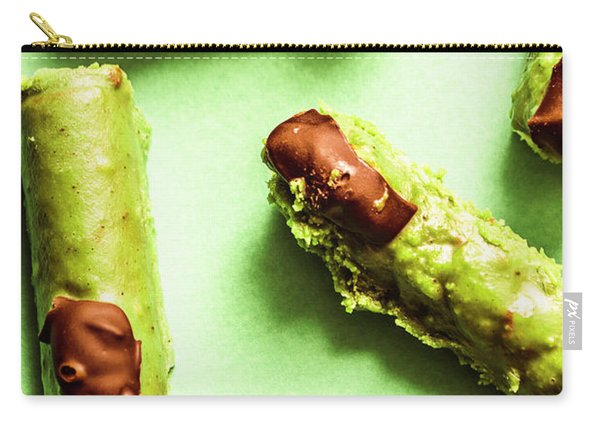 Ghastly Green Halloween Finger Food Carry-all Pouch