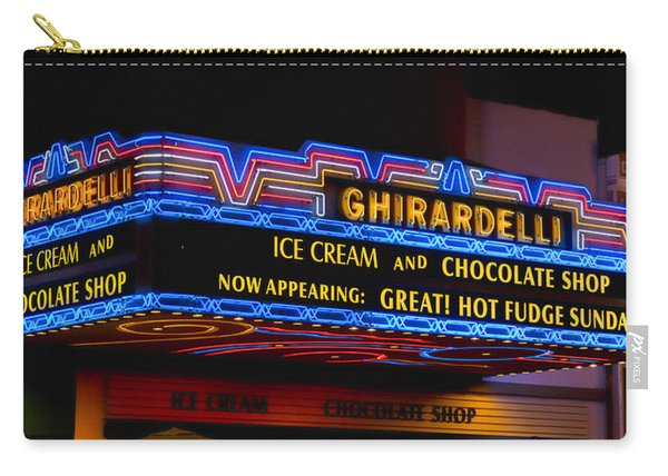 Ghirardelli Chocolate Neon Carry-all Pouch