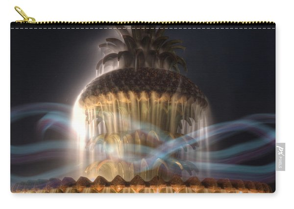 Carry-all Pouch featuring the photograph Ghost Fountain by Michael Colgate