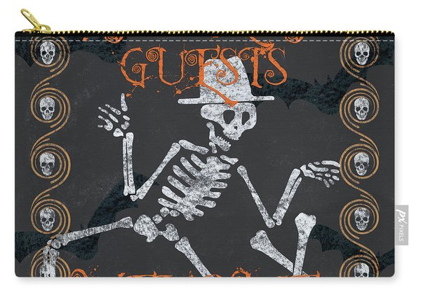 Ghoulish Guests Welcome Carry-all Pouch