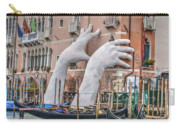 Giant Hands Venice Italy Carry-all Pouch
