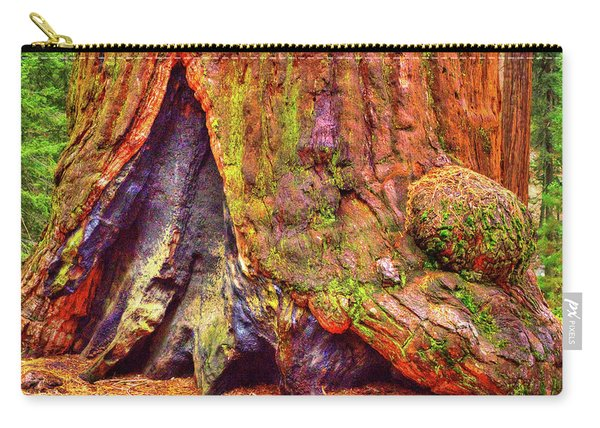Giant Sequoia Base With Fire Scar Carry-all Pouch