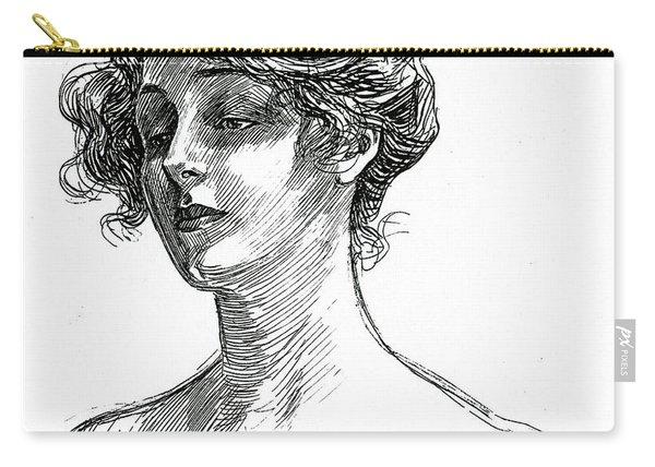 Gibson Girl Circa 1902 Carry-all Pouch