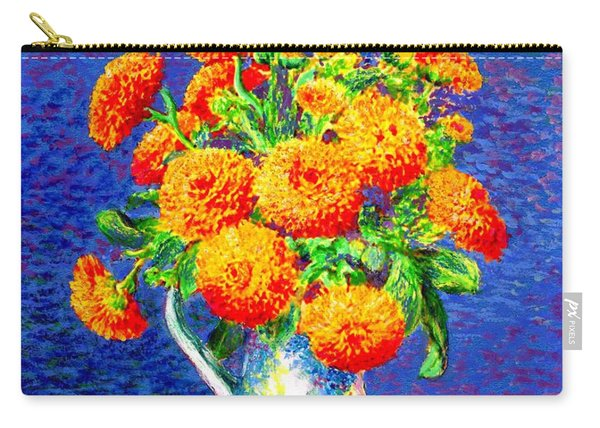 Gift Of Gold, Orange Flowers Carry-all Pouch