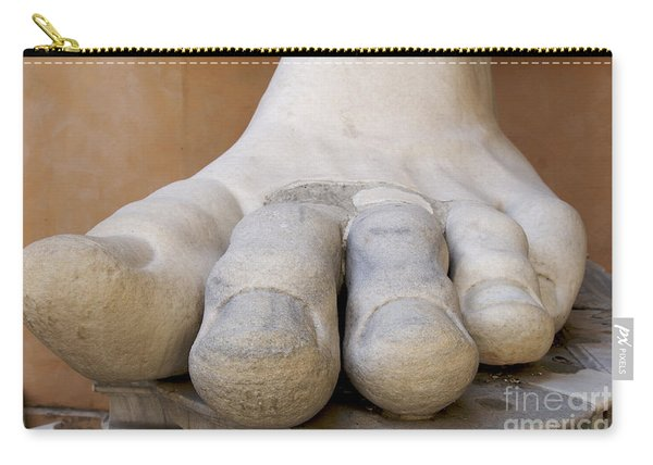 Gigantic Foot From The Statue Of Constantine. Rome. Italy. Carry-all Pouch
