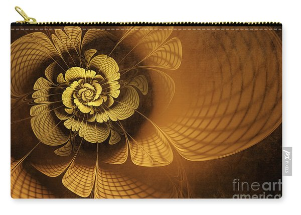 Gilded Flower Carry-all Pouch