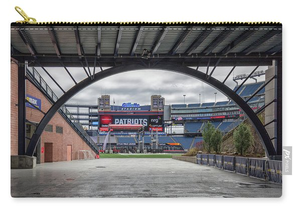 Gillette Stadium And The Four Super Bowl Banners Carry-all Pouch