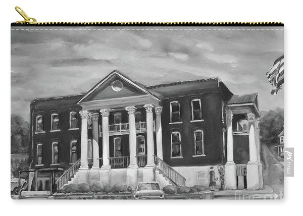 Gilmer County Old Courthouse - Black And White Carry-all Pouch