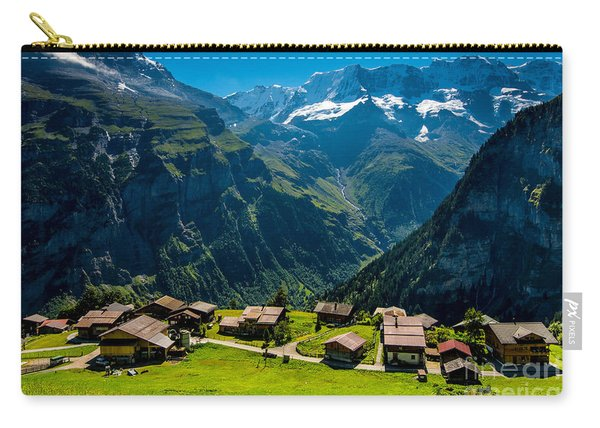 Gimmelwald In Swiss Alps - Switzerland Carry-all Pouch