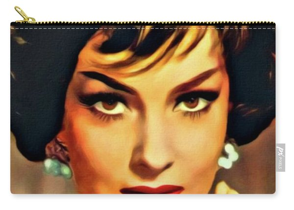 Gina Lollobrigida, Vintage Hollywood Actress. Digital Art By Mb Carry-all Pouch
