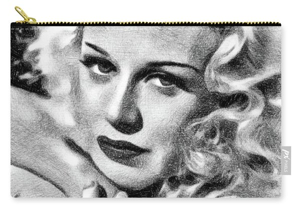 Ginger Rogers, Vintage Actress And Dancer By Js Carry-all Pouch