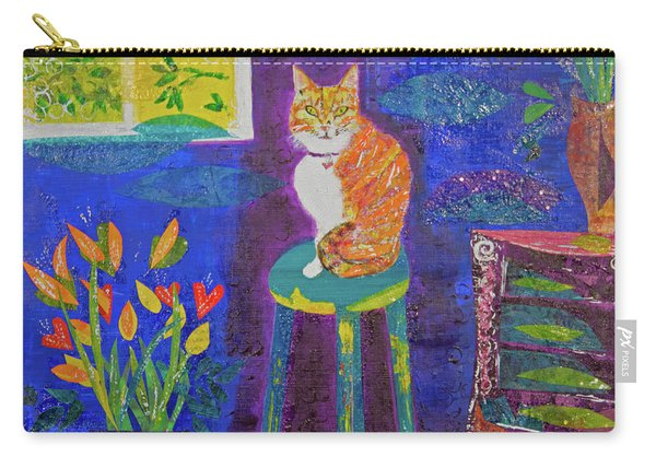 Ginger The Cat Carry-all Pouch