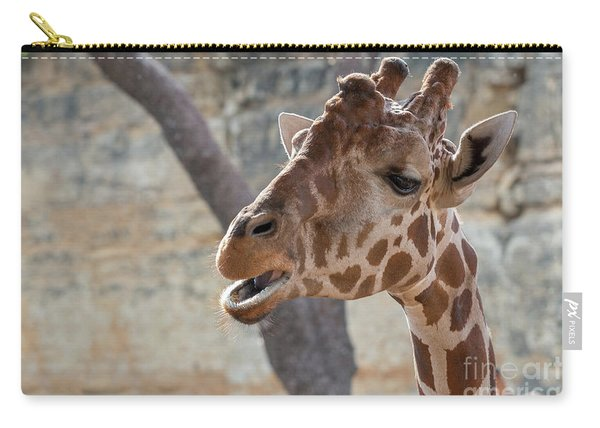 Girafe Head About To Grab Food Carry-all Pouch