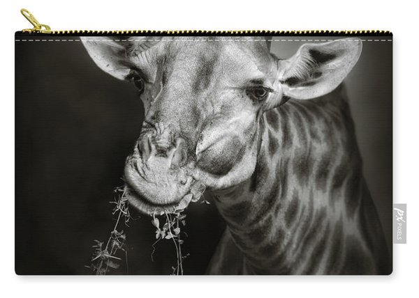Giraffe Eating Carry-all Pouch
