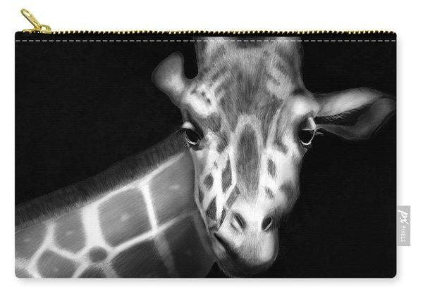 Giraffe In Black And White Carry-all Pouch